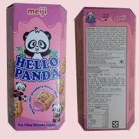 Meiji Hello Panda Biscuits With Strawberry Flavour Filling